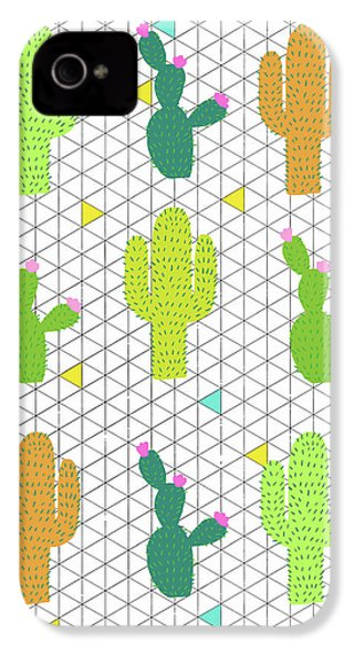 Funky Cactus IPhone 4 Case by Nicole Wilson