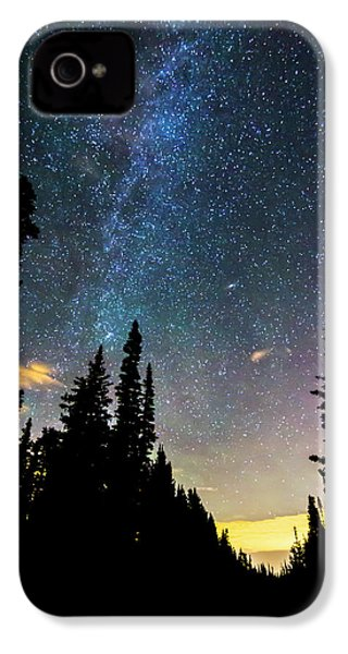 IPhone 4 Case featuring the photograph  Galaxy Rising by James BO Insogna