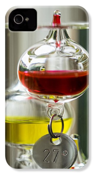 IPhone 4 Case featuring the photograph Galileo Thermometer by Jeremy Lavender Photography