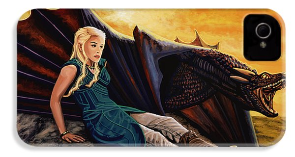 Game Of Thrones Painting IPhone 4 Case by Paul Meijering