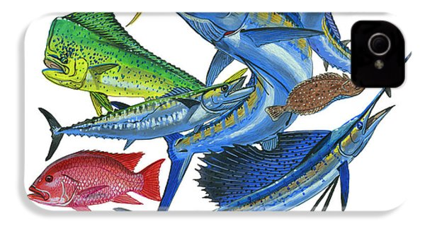 Gamefish Collage IPhone 4 Case by Carey Chen