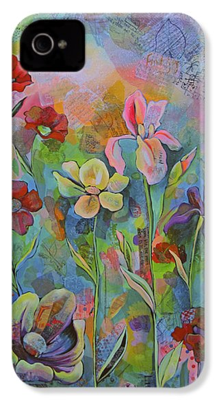Garden Of Intention - Triptych Center Panel IPhone 4 Case by Shadia Derbyshire