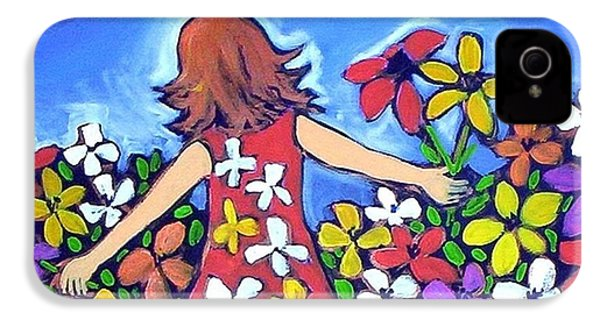 IPhone 4 Case featuring the painting Garden Of Joy by Winsome Gunning