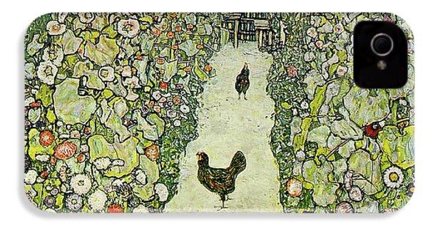 Garden With Chickens IPhone 4 Case by Gustav Klimt