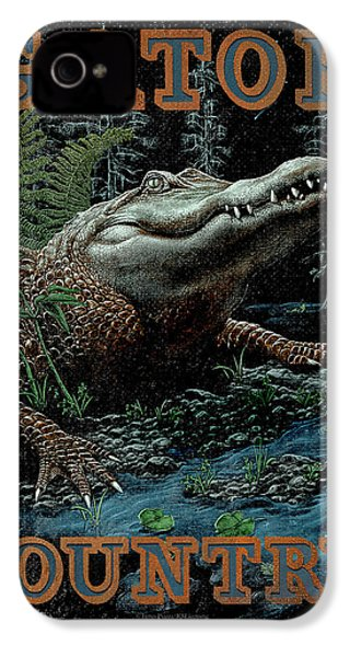 Gator Country IPhone 4 Case by JQ Licensing