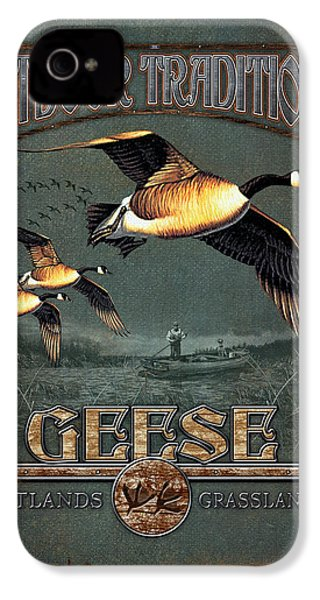 Geese Traditions IPhone 4 Case by JQ Licensing