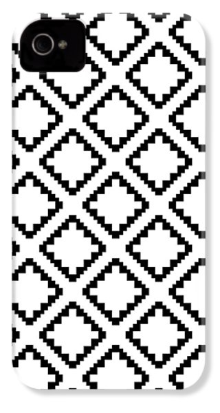 Geometricsquaresdiamondpattern IPhone 4 Case by Rachel Follett