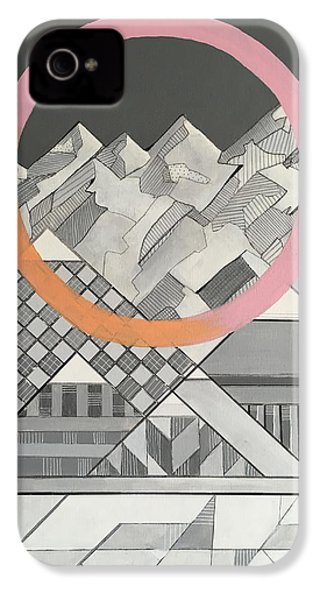 Geometry's Mountain IPhone 4 Case by Sara Cannon