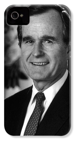 George Bush Sr IPhone 4 / 4s Case by War Is Hell Store