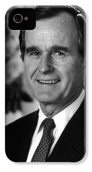 George Bush Sr IPhone 4 Case by War Is Hell Store