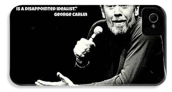 George Carlin Art  IPhone 4 Case by Pd