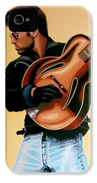 George Michael Painting IPhone 4 Case by Paul Meijering