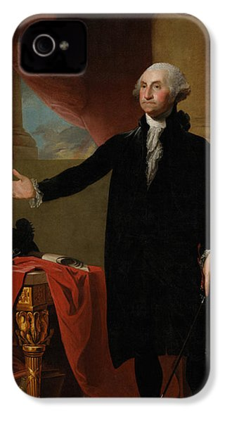 George Washington Lansdowne Portrait IPhone 4 Case by War Is Hell Store