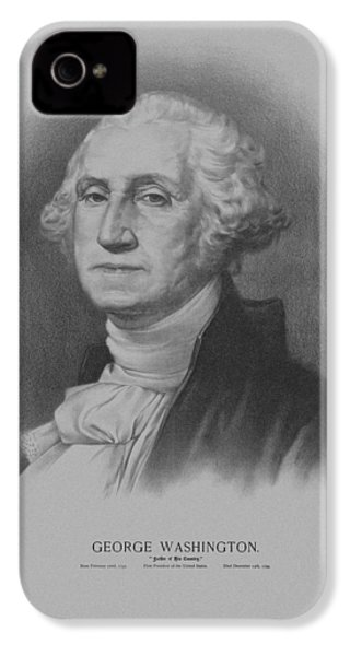 George Washington IPhone 4 Case by War Is Hell Store