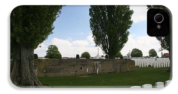 IPhone 4 / 4s Case featuring the photograph German Bunker At Tyne Cot Cemetery by Travel Pics