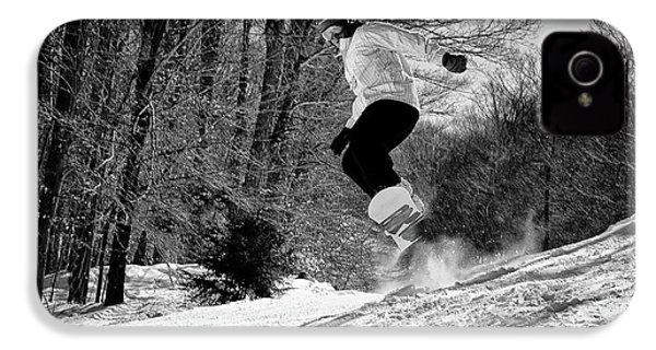 IPhone 4 Case featuring the photograph Getting Air On The Snowboard by David Patterson