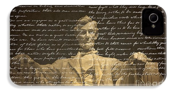 Gettysburg Address IPhone 4 / 4s Case by Diane Diederich