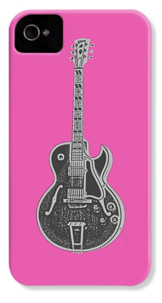 Gibson Es-175 Electric Guitar Tee IPhone 4 Case by Edward Fielding