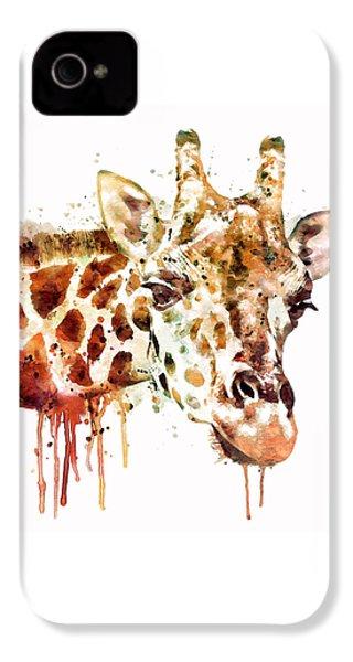 Giraffe Head IPhone 4 Case by Marian Voicu