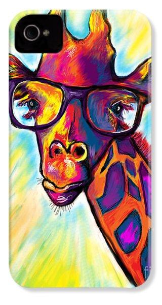 Giraffe IPhone 4 Case by Julianne Black