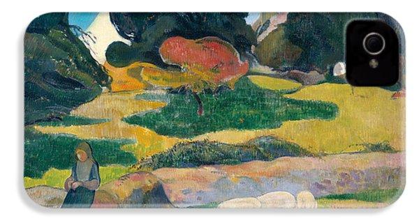 Girl Herding Pigs IPhone 4 / 4s Case by Paul Gauguin