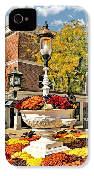 IPhone 4 Case featuring the painting Glen Ellyn Watering Trough by Christopher Arndt