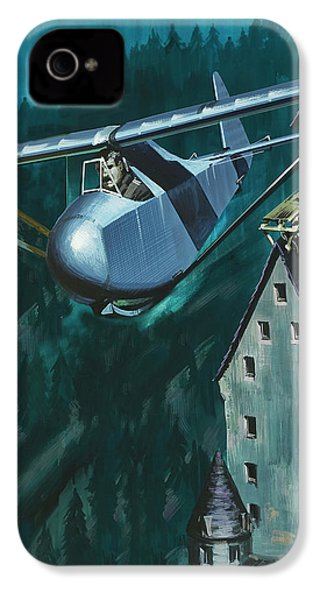 Glider Escape From Colditz Castle IPhone 4 Case by Wilf Hardy