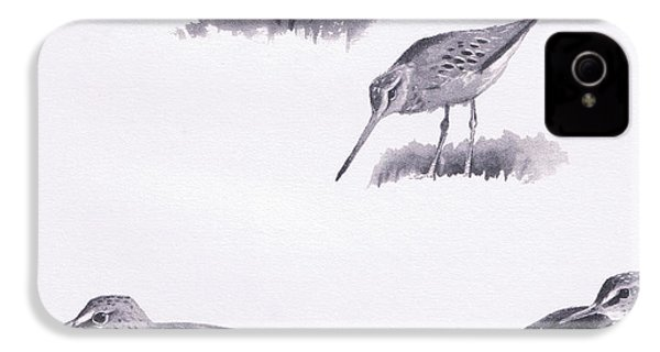 Godwits And Green Sandpipers IPhone 4 / 4s Case by Archibald Thorburn