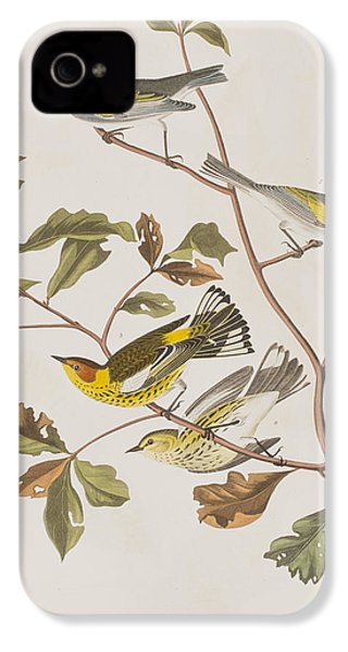 Golden Winged Warbler Or Cape May Warbler IPhone 4 / 4s Case by John James Audubon