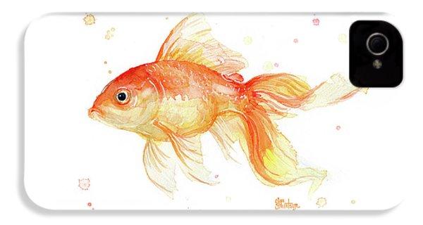 Goldfish Painting Watercolor IPhone 4 Case by Olga Shvartsur