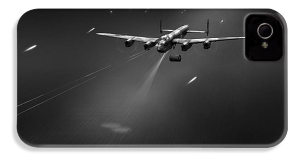 IPhone 4 Case featuring the photograph Goner From Dambuster J-johnny Bw Version by Gary Eason