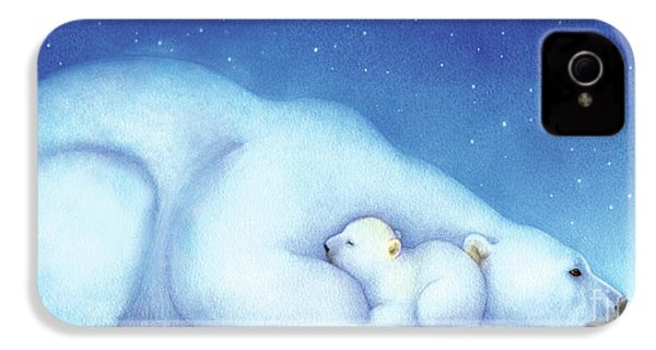 Arctic Bears, Goodnight Nanook IPhone 4 Case by Tracy Herrmann