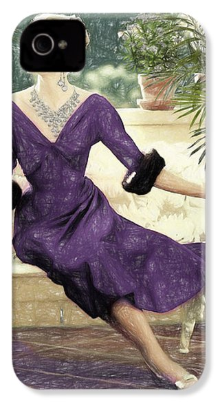 Grace Kelly Draw IPhone 4 Case by Quim Abella