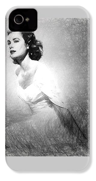 Grace Kelly Sketch IPhone 4 Case by Quim Abella