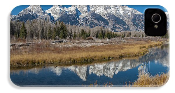 IPhone 4 Case featuring the photograph Grand Tetons by Gary Lengyel