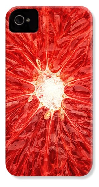 Grapefruit Close-up IPhone 4 / 4s Case by Johan Swanepoel