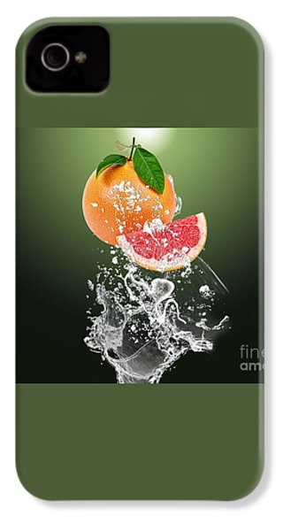 Grapefruit Splash IPhone 4 / 4s Case by Marvin Blaine