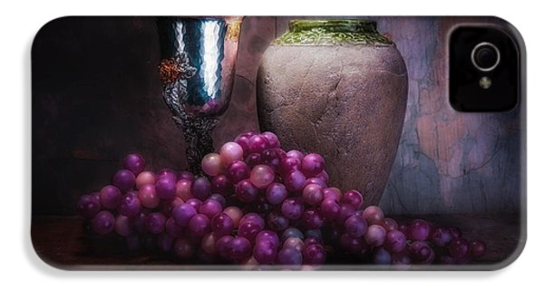 Grapes And Silver Goblet IPhone 4 / 4s Case by Tom Mc Nemar