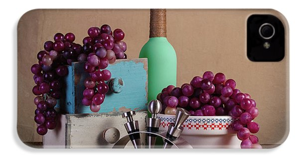 Grapes With Wine Stoppers IPhone 4 Case by Tom Mc Nemar