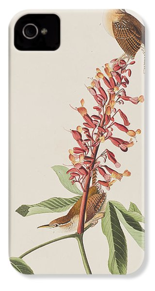 Great Carolina Wren IPhone 4 Case by John James Audubon