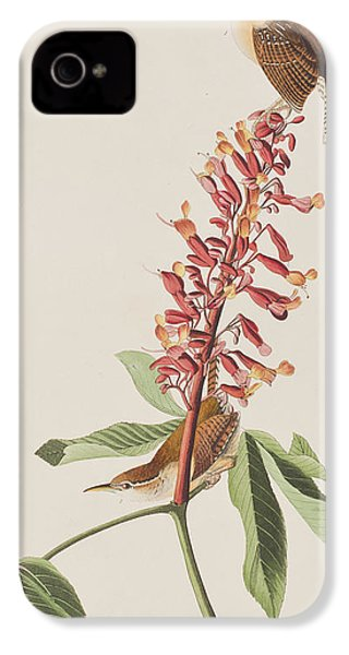Great Carolina Wren IPhone 4 Case by John James Audubon