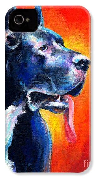 Great Dane Dog Portrait IPhone 4 Case