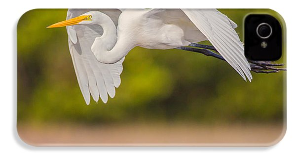 Great Egret Folded Wings IPhone 4 Case