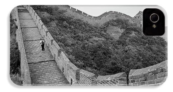 IPhone 4 Case featuring the photograph Great Wall 9, Jinshanling, 2016 by Hitendra SINKAR