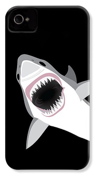 Great White Shark IPhone 4 Case by Antique Images
