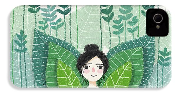 Green IPhone 4 Case by Carolina Parada