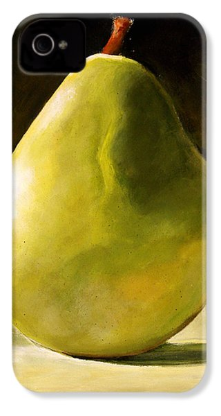 Green Pear IPhone 4 Case by Toni Grote