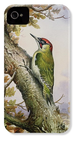 Green Woodpecker IPhone 4 Case by Carl Donner