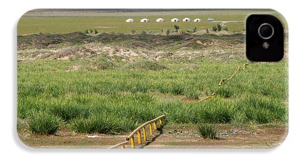 IPhone 4 Case featuring the photograph Greenery In Desert, Gobi, 2016 by Hitendra SINKAR