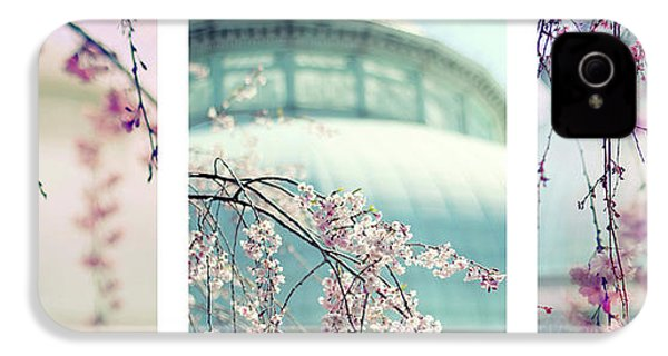 IPhone 4 Case featuring the photograph Greenhouse Blossoms Triptych by Jessica Jenney